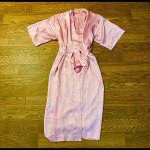 Vintage Pink Full Length Robe, Medium